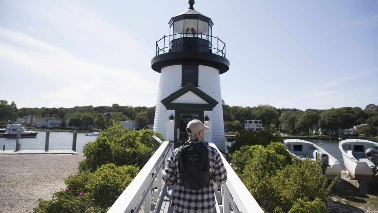 Exploring the waterfront in Mystic, Connecticut