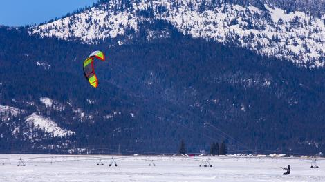 Snowkiting in New England