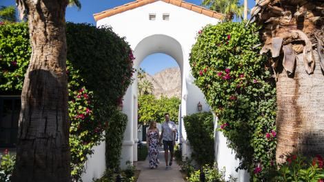 Couple at the La Quinta Resort & Club in Palm Springs, California