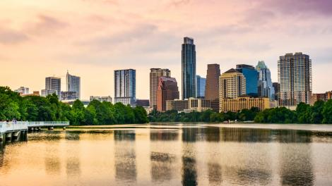 The Austin, Texas, skyline