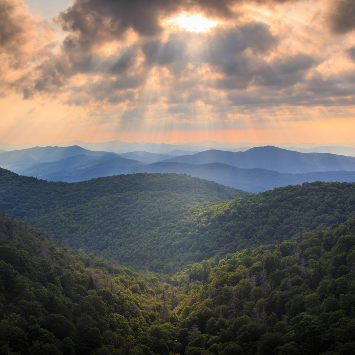 The Blue Ridge Mountains in North Carolina