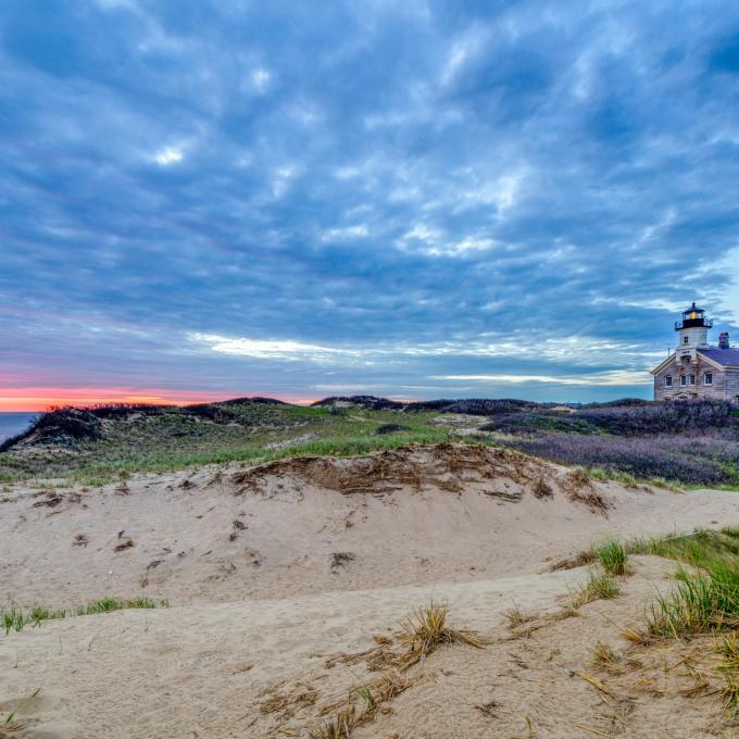 The Block Island North Light in Rhode Island
