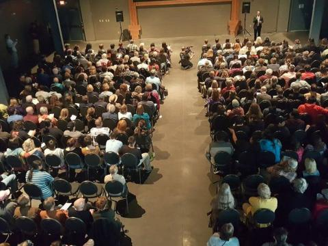 Audience gathered before a screening at Duluth Superior Film Festival