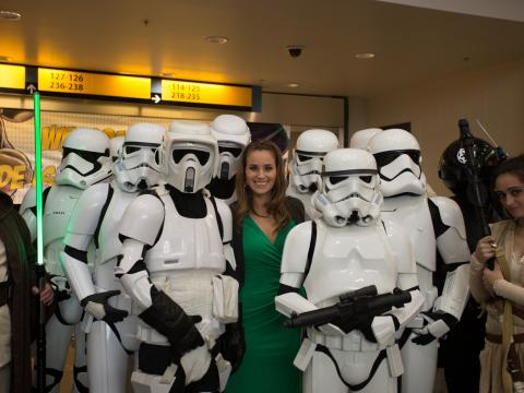 A galaxy of storm troopers at Rhode Island Comic Con