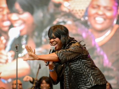 Reaching the crowd at the Chicago Gospel Music Fest