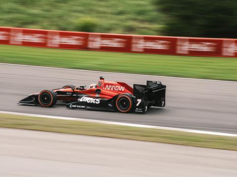 A competitor at Honda Indy Grand Prix
