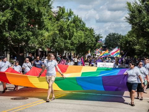 Parade during Knox Pridefest in Knoxville, Tennessee