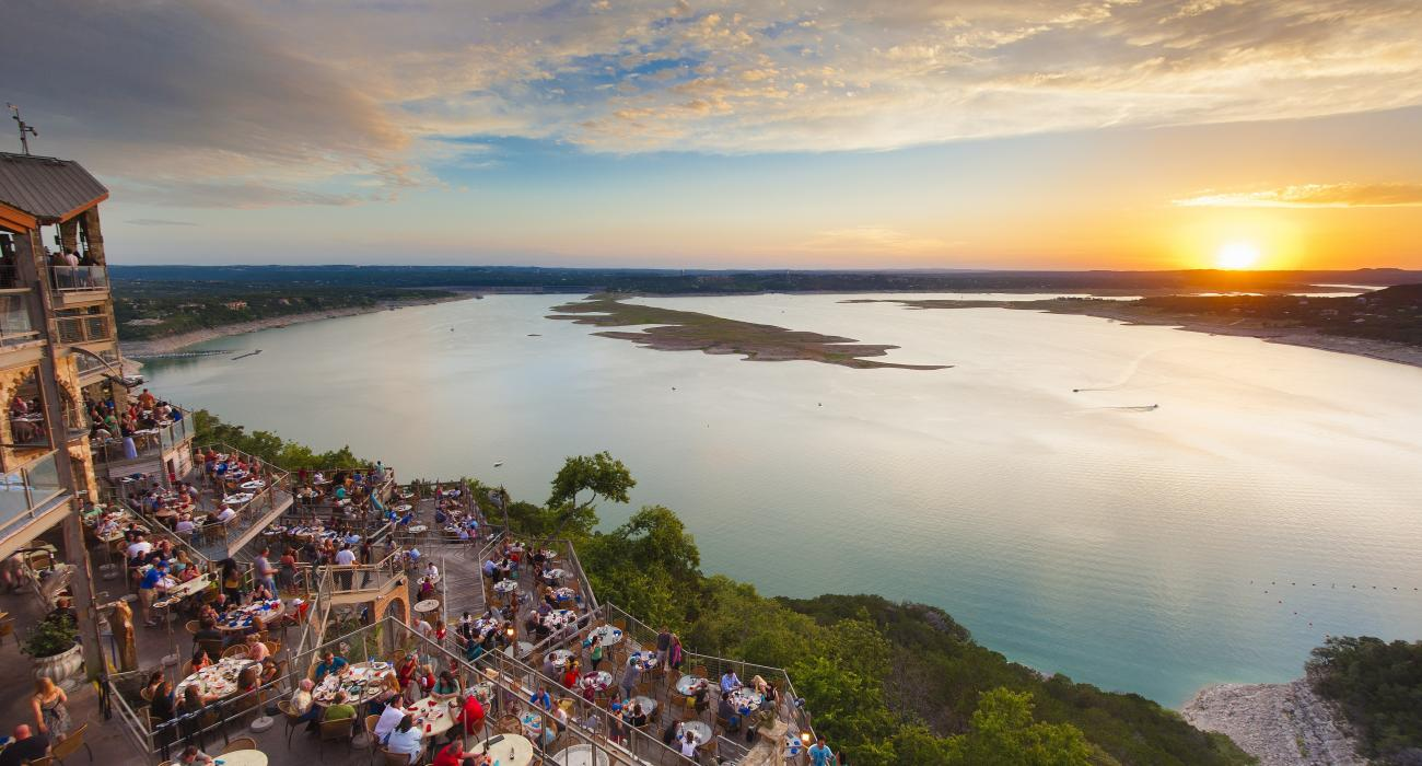 807f66c195c Spectacular sunset views at The Oasis on Lake Travis