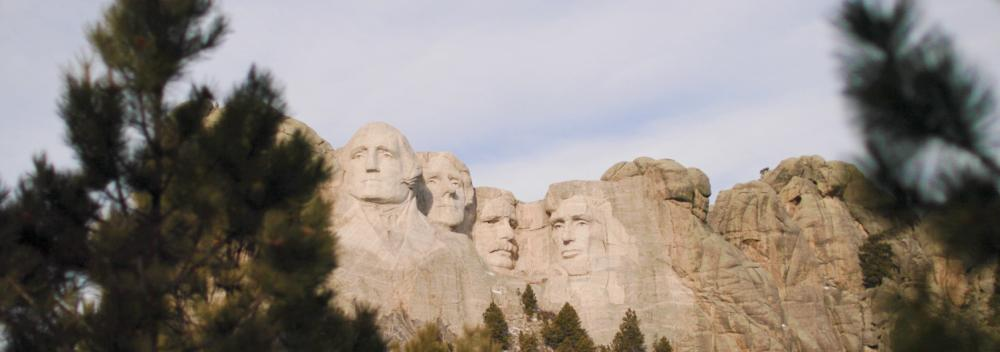 The presidential faces of Mount Rushmore Mount Rushmore National Memorial