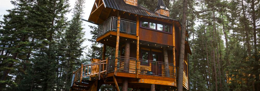 The Montana Treehouse Retreat outside of Whitefish, Montana